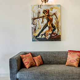 Bold Artwork: Bold art work in a serene setting at Concord Casablanca Serviced Apartment